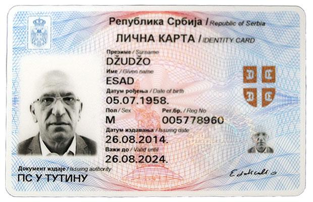 nova licna karta srbije Predsjednik BNV dobio novu ličnu kartu sa izvornim prezimenom  nova licna karta srbije
