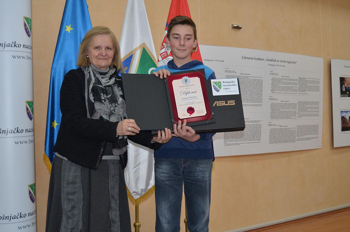 Dobitnik nagrade na literarnom konkursu u drugoj kategoriji